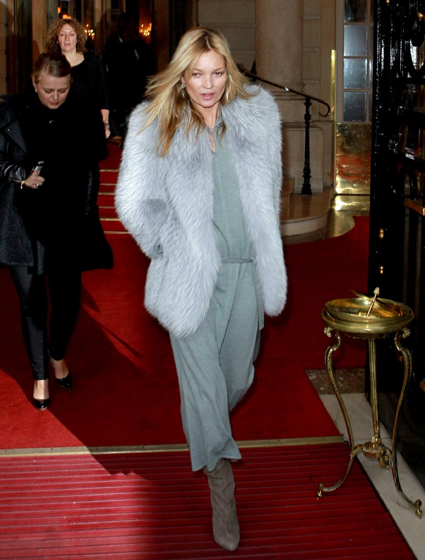 Kate Moss Leaves The Ritz Hotel
