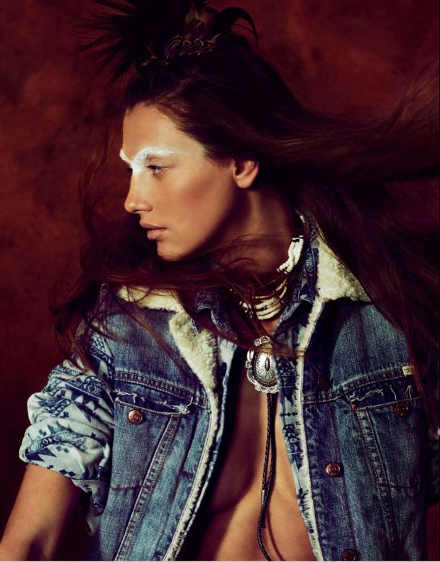 estilo sioux en marie claire españa agosto 2013 / sioux look marie claire spain august 2012