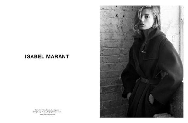 Daria Werbowy en la campaña de otoño de Isabel Marant