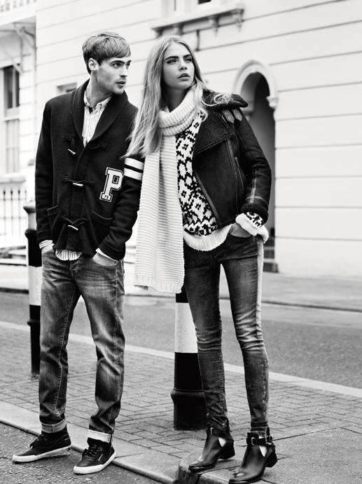 cara delevigne en la campaña de otoño 2013 de pepe jeans