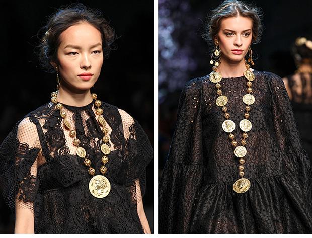 dolce & gabbana detalles y accesorios primavera verano 2014 / dolce & gabbana details and accesories spring summer 2014 / milan fashion week