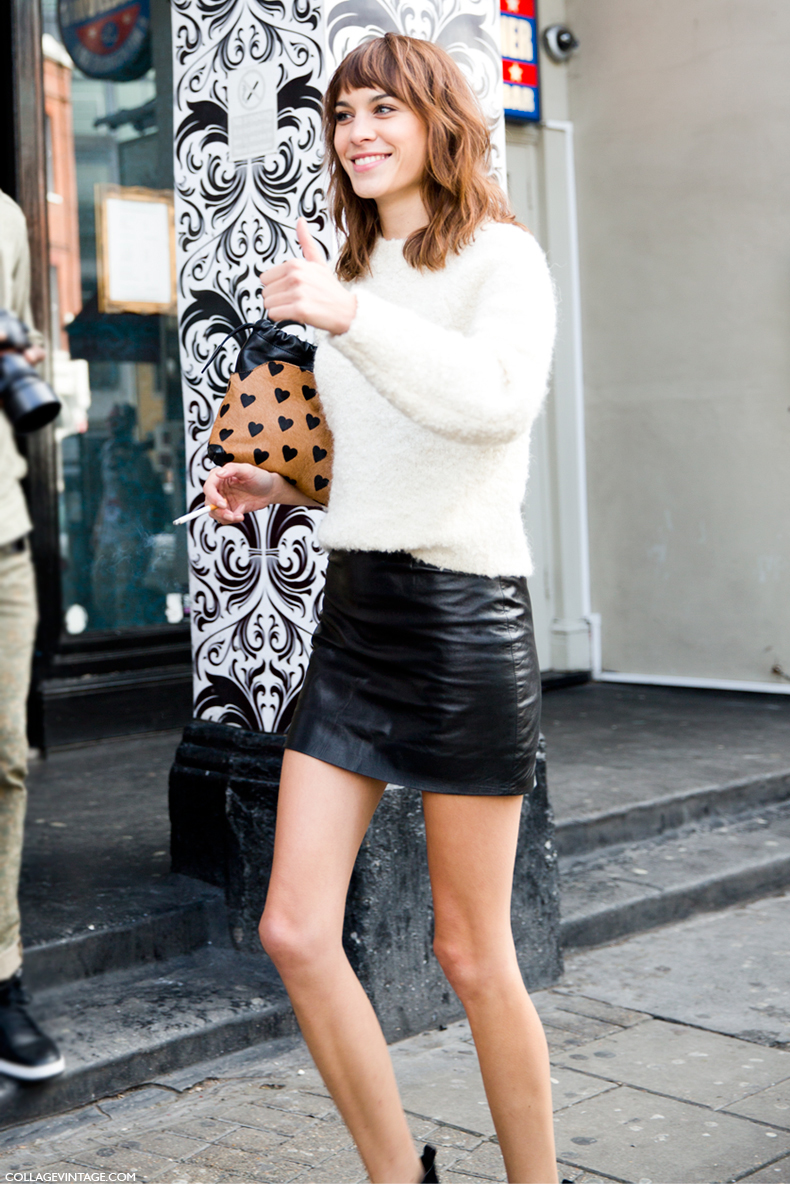 LFW-London_Fashion_Week_Spring_Summer_2014-Street_Style-Say_Cheese-Collage_Vintage-Alexa_Chung-Michael_Kane