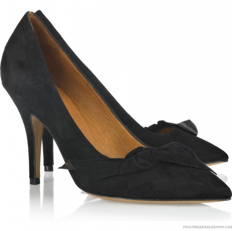 Isabel Marant black bow high heels