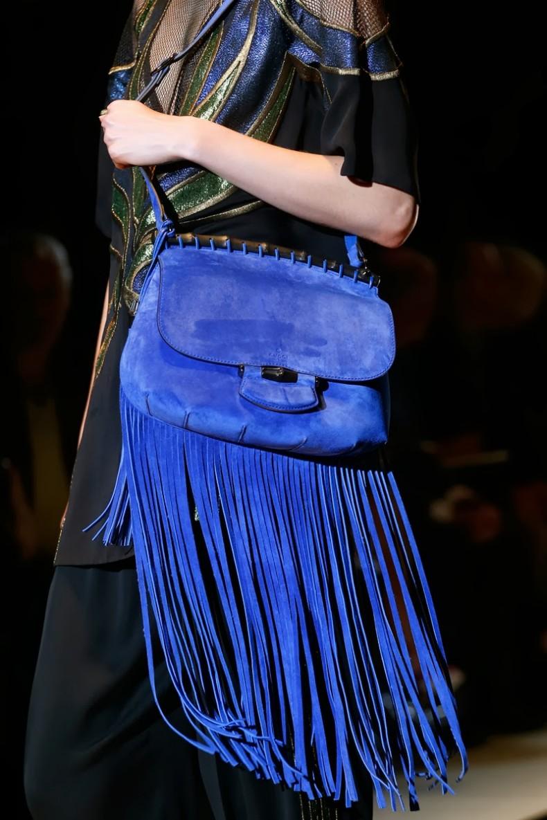 Milan-Fashion-Week-SS-2014-Gucci-accessories-electric-blue-fringe-bag-022