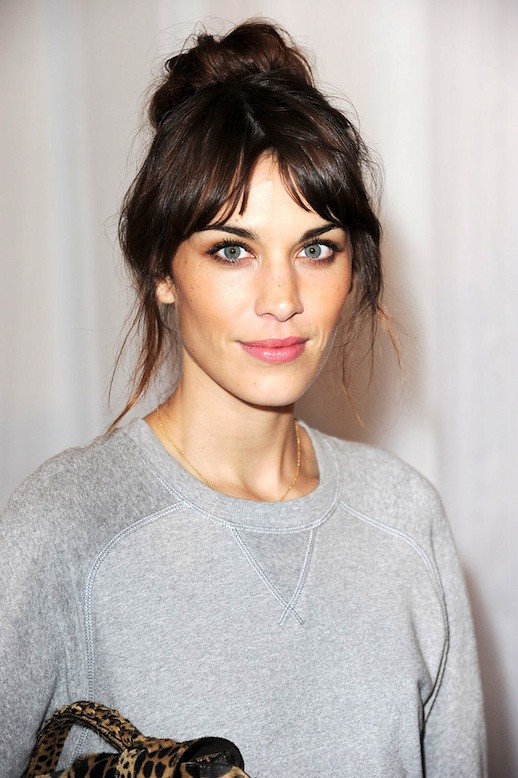 Le-Fashion-Blog-17-Hairstyles-With-Bangs-Best-For-Your-Face-Shape-Alexa-Chung-Fringe-Ponytail-Via-Pop-Sugar