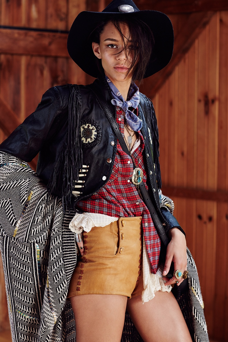Binx Walton shot by Devyn Galindo for Urban Outfitters Western Collection