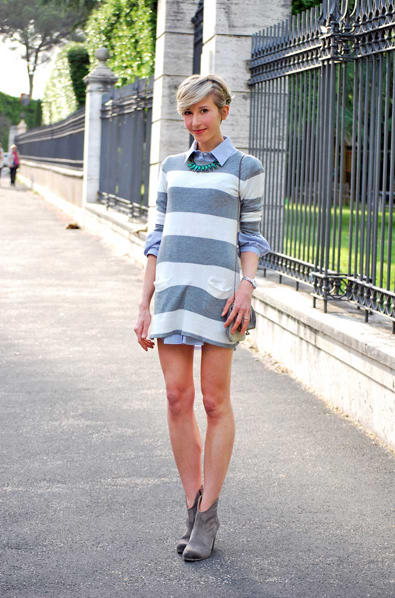 1_abito-a-righe_street-style_casual