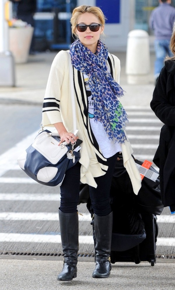 Dianna Agron arriving at JFK airport in NYC