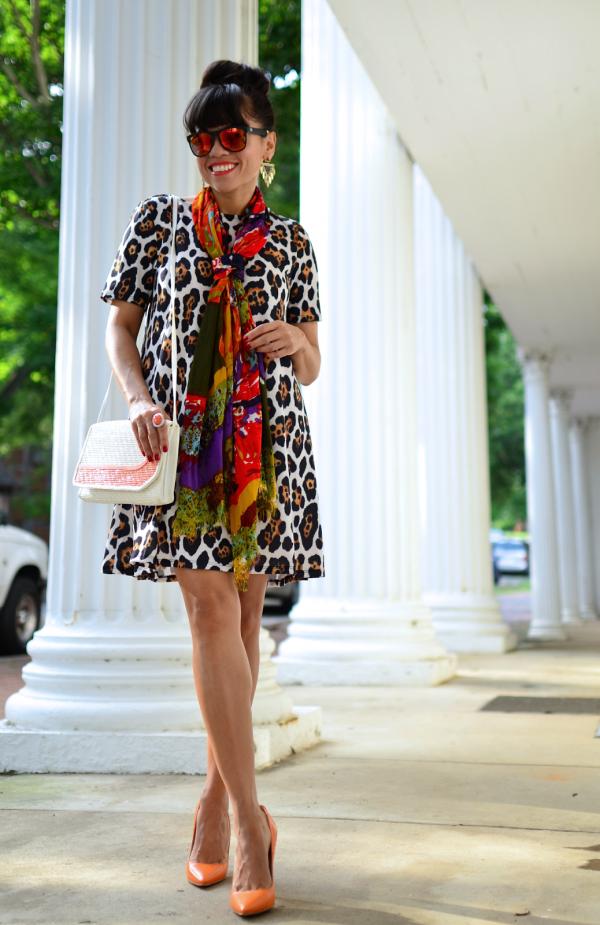 Leopard Dress Street Style Outift