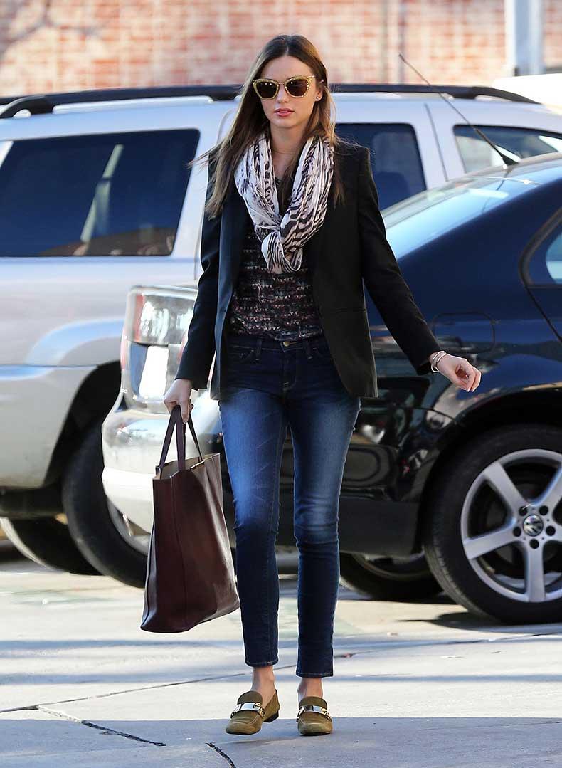 Miranda-bundled-up-chilly-LA-day-Stella-McCartney-blazer