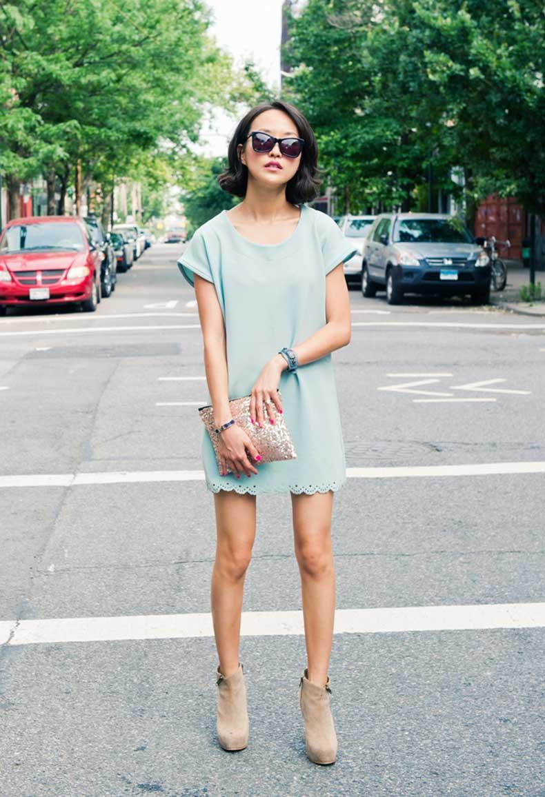 misspouty-blog-scallop-hem-dress-sequin-pouch-clutch-balenciaga-hermes-bracelet-karen-walker-sunglasses-suede-ankle-boots-street-style-fashion-blogger-23