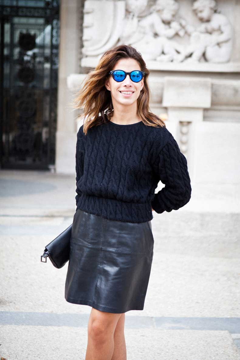 sweater-leather-skirt-street-style