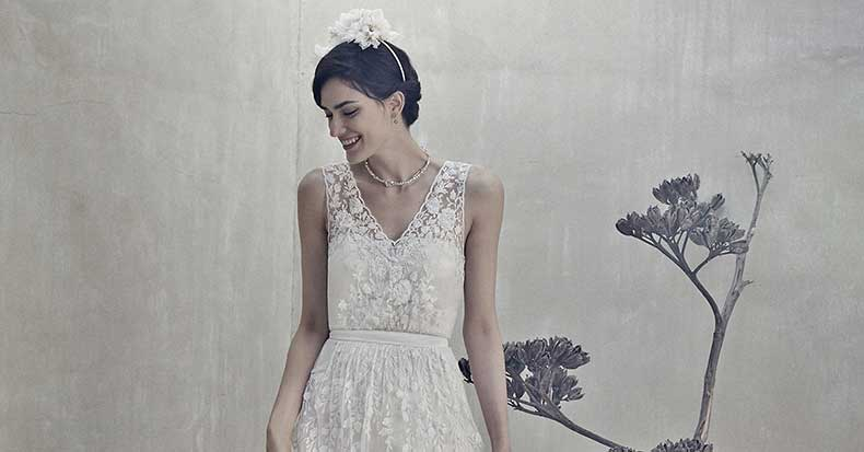 Bhldn-Sian-White-Lace-Gown