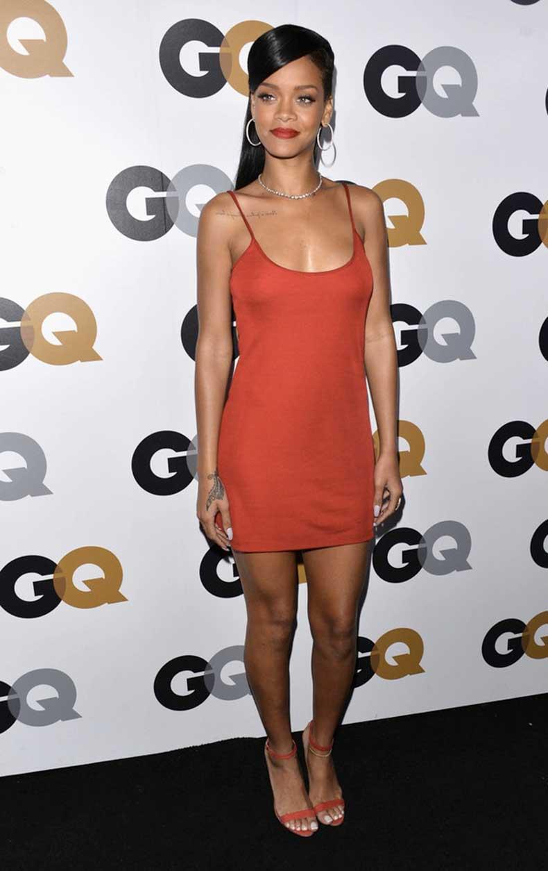 Rihanna-Calvin-Klein-Dress-Manolo-Blahnik-Sandals
