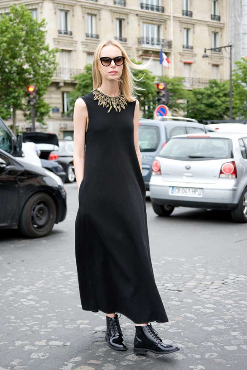 Street-Style-Black-Maxis-+-Flat-Boots-1