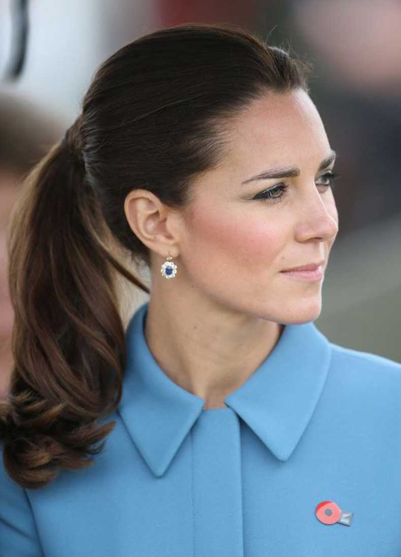 Kate-Middleton-ponytail