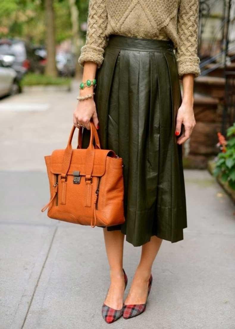 leather-pleated-midi-skirt