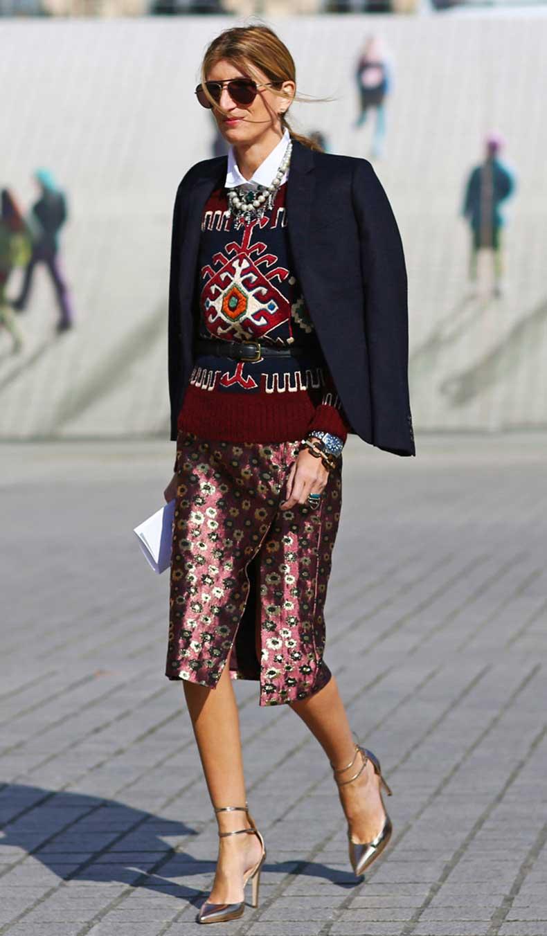 pfw-fw2013-street-style-sarah-rutson-mixed-prints-floral-skirt