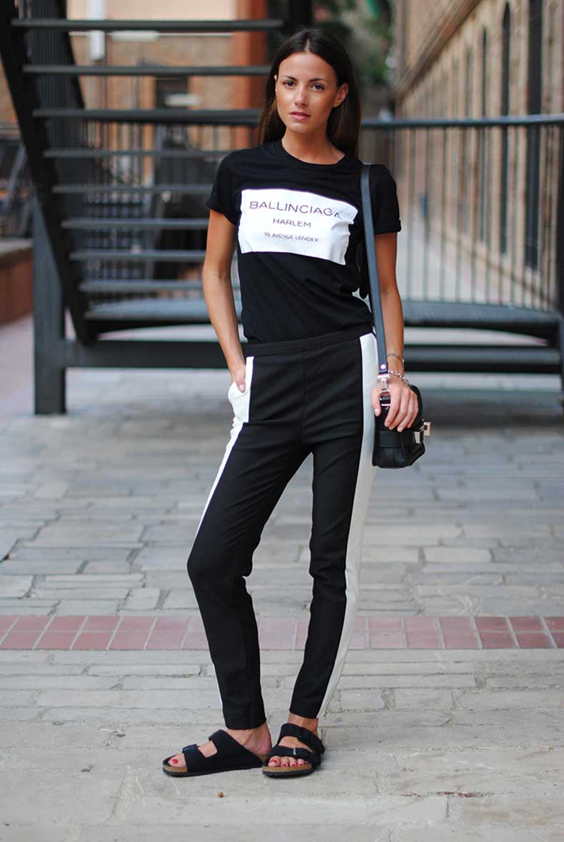 2-minimal-look-balck-white-pants-birkenstock-sandals