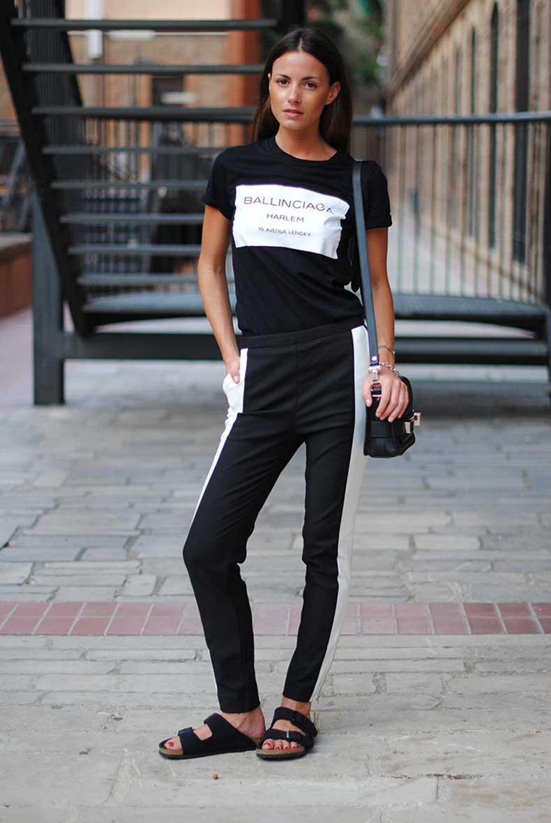 2-minimal-look-balck-white-pants-birkenstock-sandals
