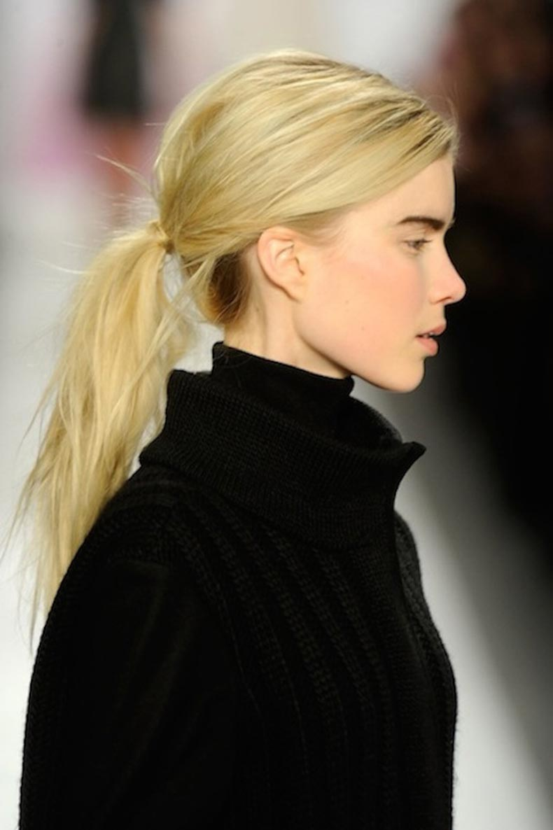 4-Le-Fashion-Blog-9-Inspiring-Wrapped-Ponytails-Messy-Low-Ponytail-Tibi-Via-Glamour
