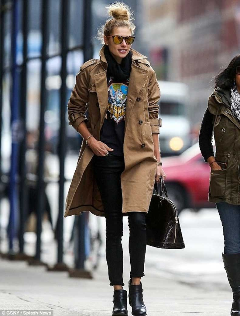 7-Le-Fashion-Blog-13-Ways-To-Style-A-Vintage-Tee-Jessica-Hart-Trench-Coat-Mirrored-Sunglasses-Jeans-Boots
