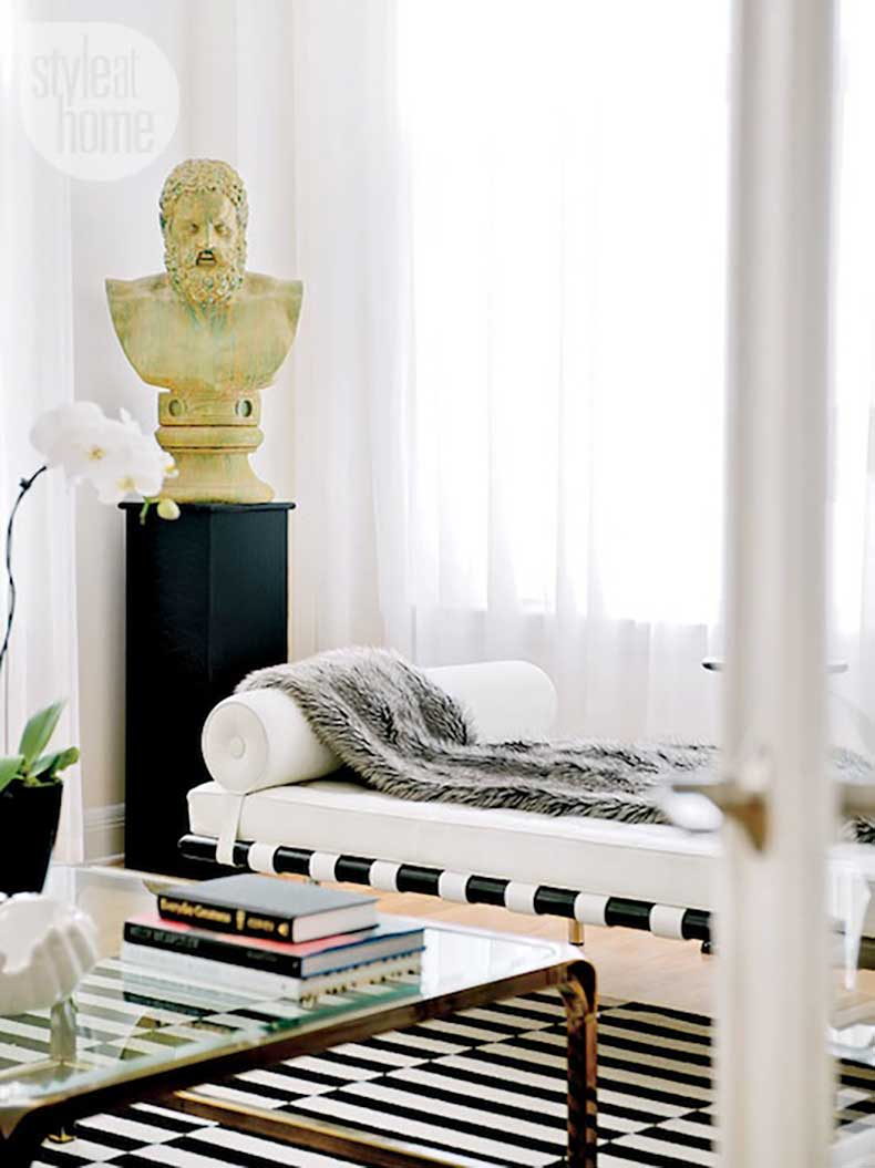 Le-Fashion-Blog-A-Fashionable-Home-Mid-Century-Modern-Glamour-Canada-Style-At-Home-Magazine-Sarah-Blakely-Fur-Throw-9