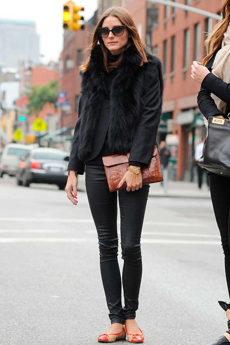 oliva-palermo-street-style-all-black-black-fur-vest