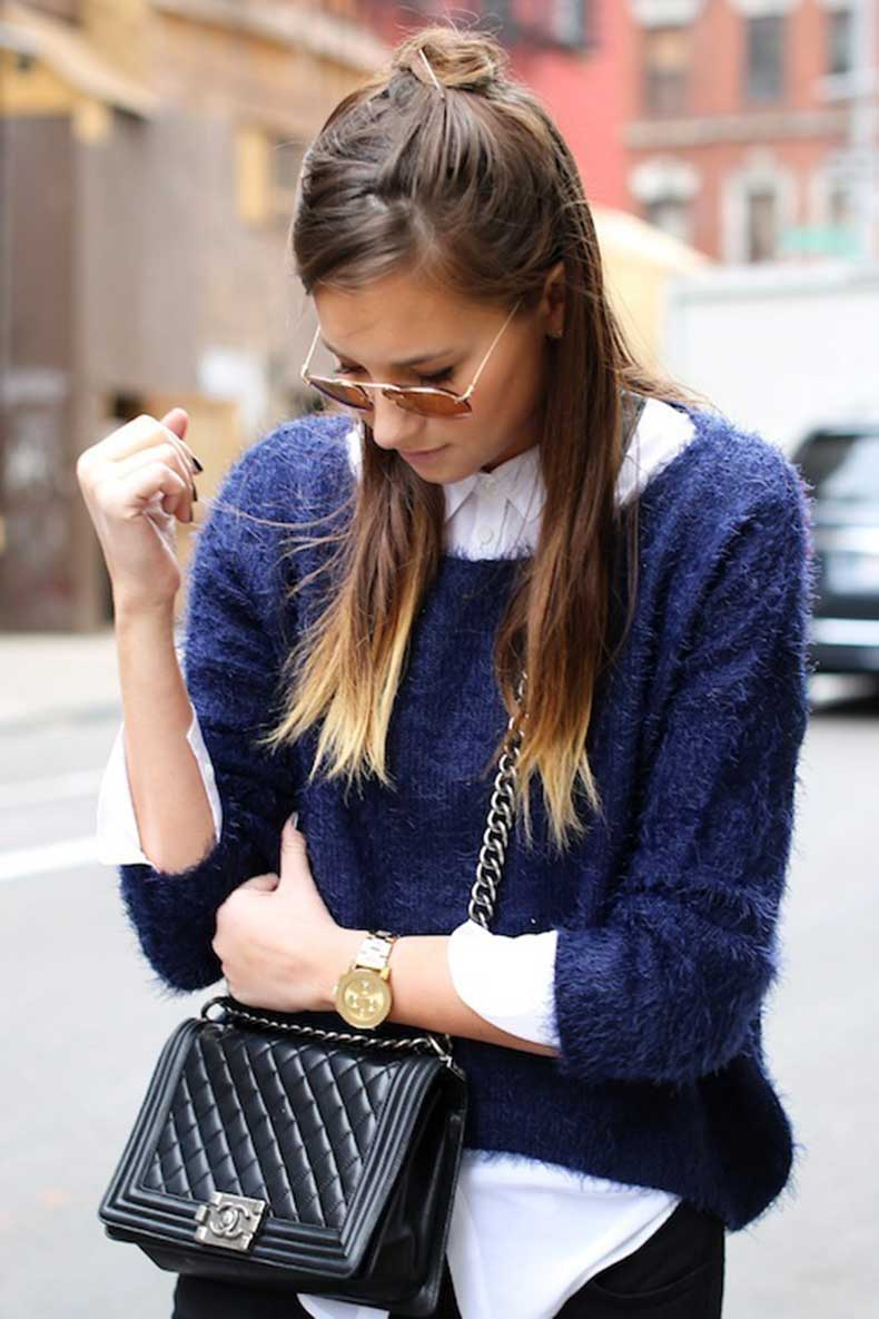 13-Le-Fashion-Blog-19-Ways-To-Wear-A-Half-Up-Top-Knot-Bun-Long-Brown-Hair-Via-We-Wore-What