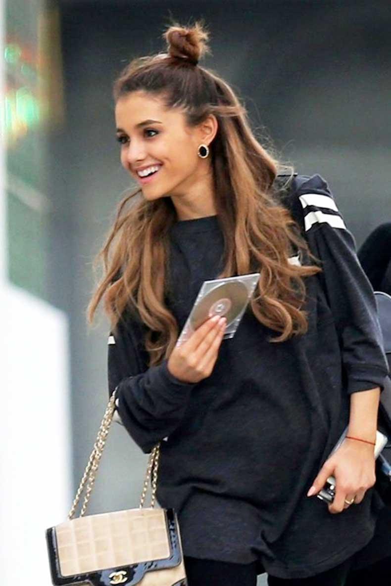 17-Le-Fashion-Blog-19-Ways-To-Wear-A-Half-Up-Top-Knot-Bun-Ariana-Grande-Long-Hair-Airport-Style
