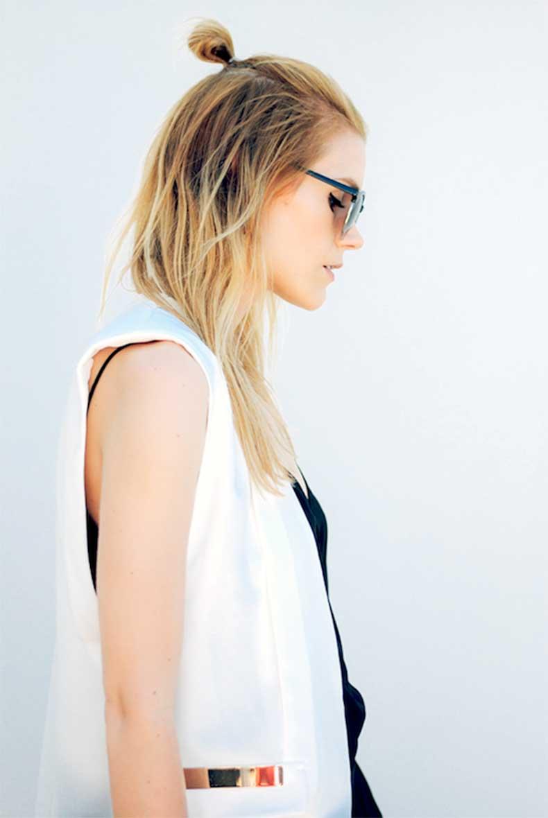 3-Le-Fashion-Blog-19-Ways-To-Wear-A-Half-Up-Top-Knot-Bun-Long-Blonde-Hair-Vest-Via-Love-Blair