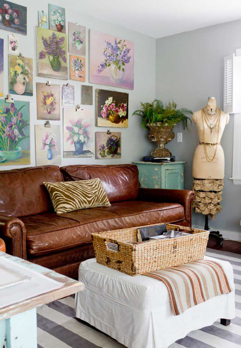 Joanna-Madden-Floral-Paintings-Living-Room-Rikki-Snyder-Photography-Style-Me-Pretty-Living-Home-Tour-Vintage-600x866