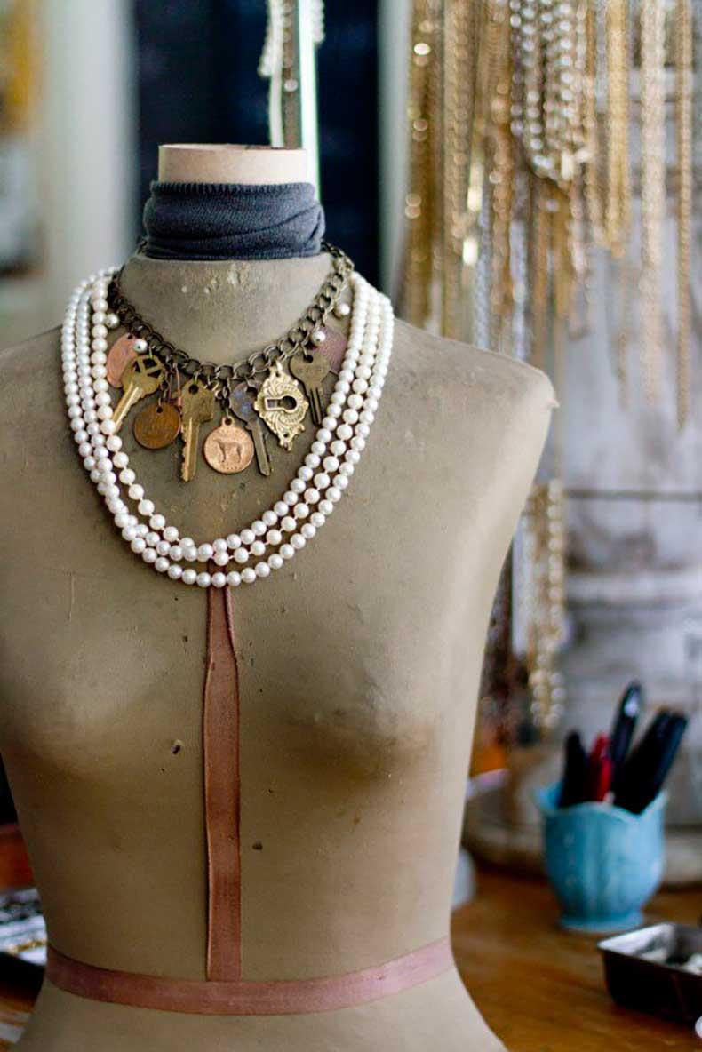 Joanna-Madden-Home-Tour-Studio-Handmade-Jewelry-Vintage-Keys-Pearls-600x899