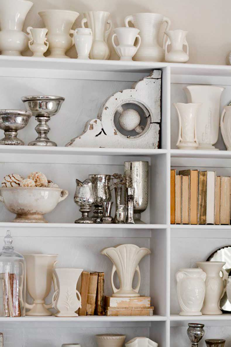 Joanna-Madden-Rikki-Snyder-Photography-Style-Me-Pretty-Living-Home-Tour-Vintage-Ironstone-Corbels-Books-White-600x899