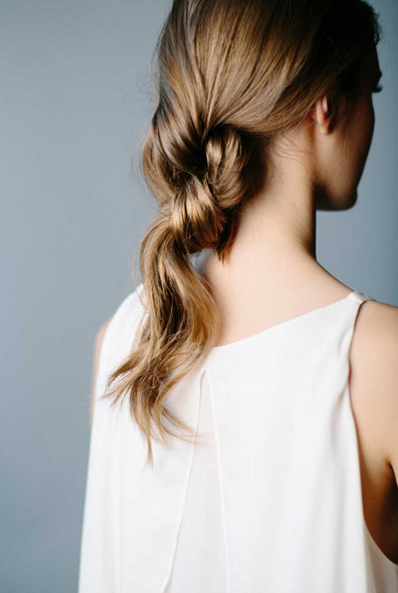 Le-Fashion-Blog-3-Stunning-Knotted-Ponytails-Double-Knot-Hair-Inspiration-Via-Once-Wed