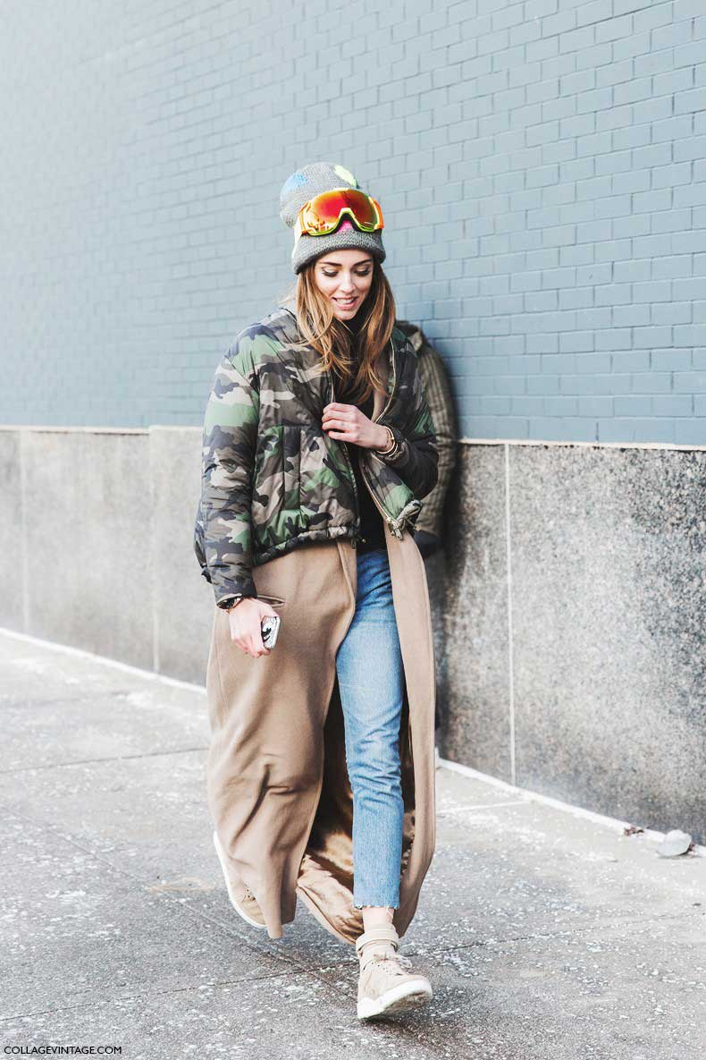 New_York_Fashion_Week-Fall_Winter_2015-Street_Style-NYFW-Chiara_Ferragni-Camouflage_Jacket_Valentino-Long_Coat--790x1185