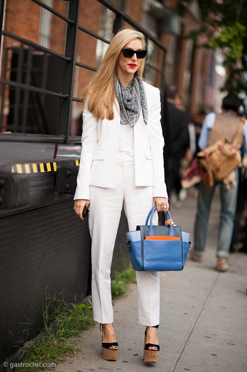 joanna-hillman-in-a-white-suit-outside-rodarte