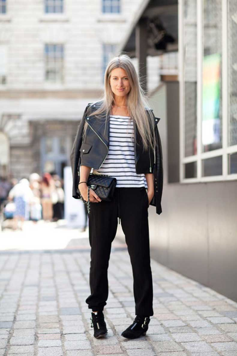lfw-london-fashion-week-ss-2013-spring-summer-leather-moto-jacket-stripe-breton-shirt-chanel-quilted-bagathletic-sporty-jogger-pant-ankle-elastic-cuffstabitha-simmons-buckle-boots-via-ha