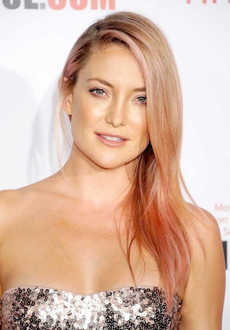 2-Le-Fashion-Blog-7-Inspiring-Pink-Ombre-Hair-Looks-Kate-Hudson-Rose-Gold-Hair-Silver-Sequins-Skin