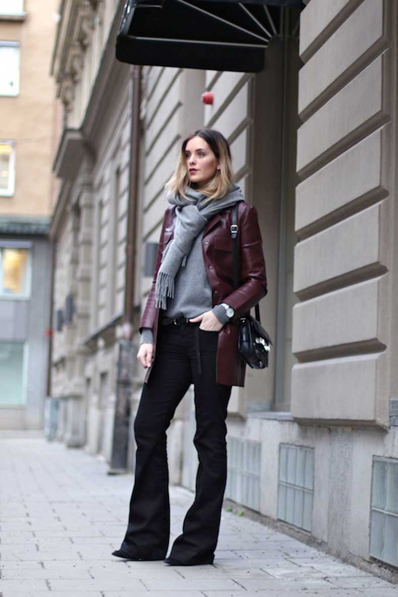 7-Le-Fashion-Blog-9-Ways-To-Wear-Flared-Jeans-Wide-Leg-Denim-Scarf-Burgundy-Leather-Jacket-Via-Moderosa