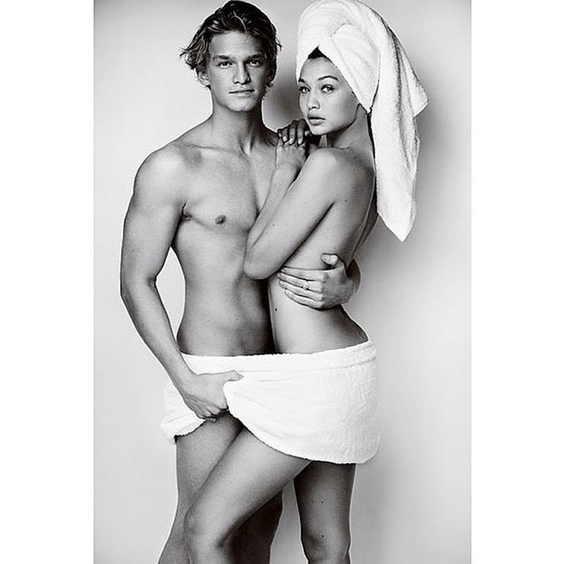Gigi-Cody-Simpson-first-couple-star-Mario-Testino-Towel-Series