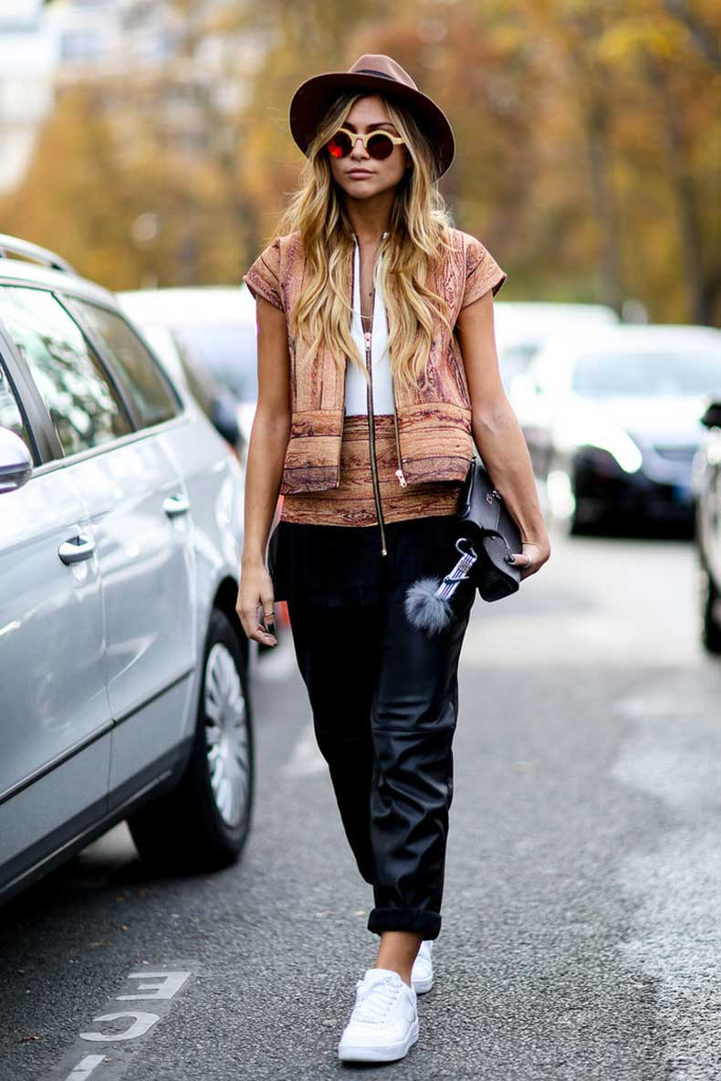 Leather-pants-dont-have-skintight-pair-baggier