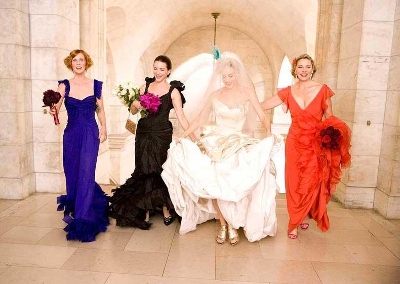 Multicolored-Bridesmaids-Dresses