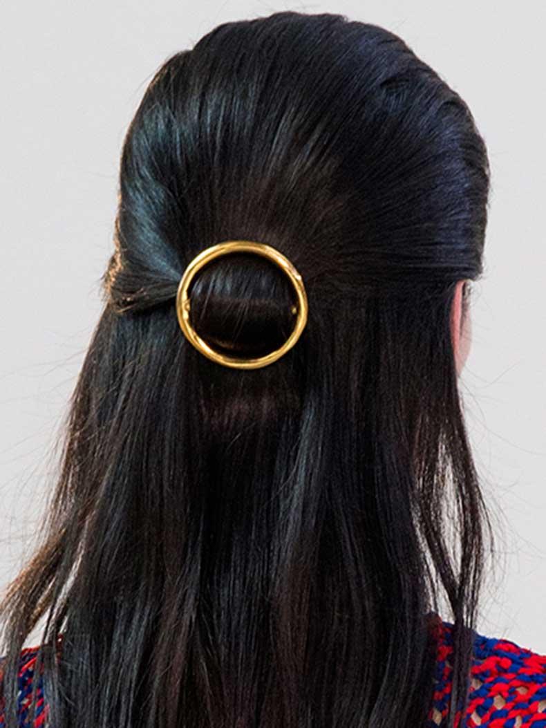 celine-half-up-loop-hairstyle