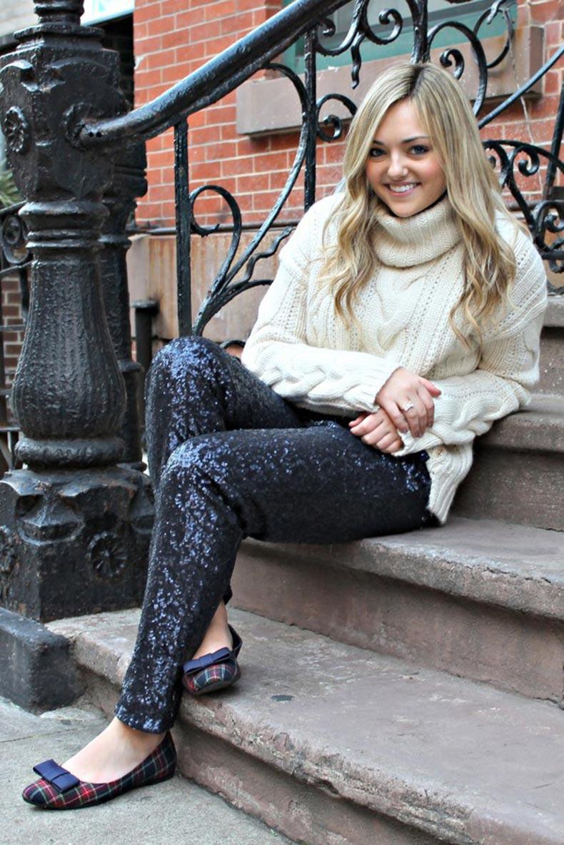 fisherman-sweater-sequin-pants-plaid-flats-600x899