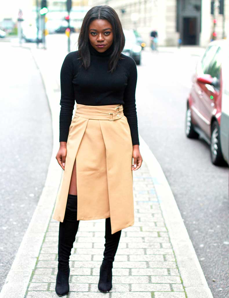 zara-camel-skirt-black-thigh-high-boots-mirror-me-4