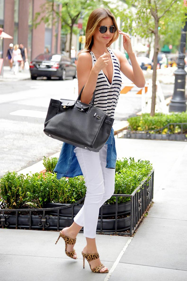 12-Le-Fashion-Blog-30-Fresh-Ways-To-Wear-White-Jeans-Miranda-Kerr-Striped-Tank-Top-Leopard-Sandals-Via-Harpers-Bazaar