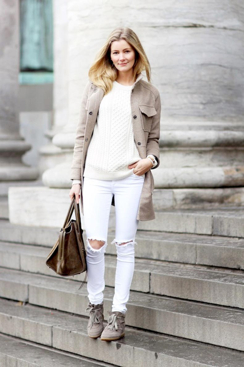 18-Le-Fashion-Blog-30-Fresh-Ways-To-Wear-White-Jeans-Neutral-Coat-Cable-Knit-Sweater-Sneakers-Via-Passions-For-Fashions