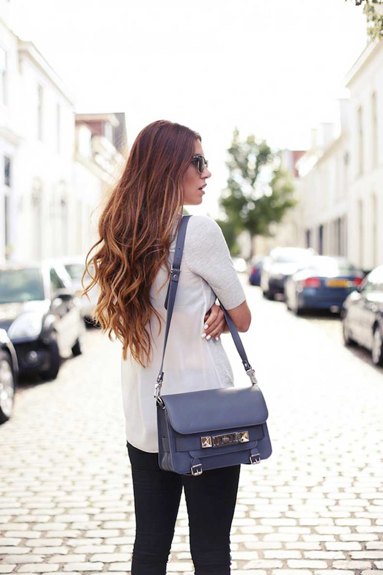 2-Le-Fashion-Blog-Long-Hair-Inspiration-Negin-Mirsalehi-Brunette-Brown-Wavy-Blue-Proenza-Schouler-PS11