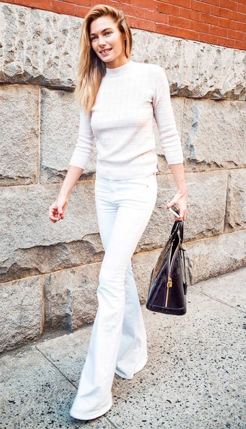 29-Le-Fashion-Blog-30-Fresh-Ways-To-Wear-White-Jeans-Jessica-Hart-Flared-Denim-Via-Who-What-Wear